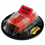 "Post-It Flags High Volume Flag Dispenser, ""Sign Here"", Red, 200 Flags/Dispenser MMM680HVSHR"