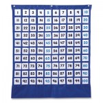 Carson-Dellosa Publishing 5604 Hundreds Pocket Chart with 100 Clear Pockets, Colored Number Cards, 26 x 26 CDP158157