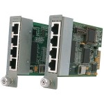 Omnitron Systems 4Tx iConverter 10/100 Managed Ethernet Switch module 8480-4