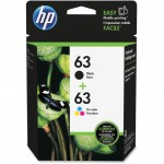 HP 63 Ink Cartridge Black/Tri-color 2-Pack L0R46AN