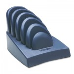 Kensington K62061B InSight Priority Puck Five-Slot Desktop Copyholder, Plastic, Dark Blue/Gray KMW62061