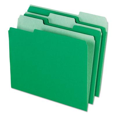 Pendaflex Interior File Folders 1 3 Cut Top Tab Letter Bright Green 100 Box Pfx421013bgr