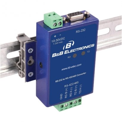 B+B Isolated RS-232 To RS-422/485 Panel Mount Converter SCP311T-DFTB3