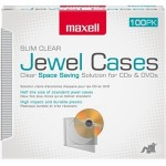 Maxell Jewel Cases Slim Line - Clear (100 Pack) 190152