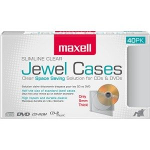 Maxell Jewel Cases Slim Line - Clear (40 Pack) 190074OD