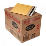 Sealed Air Jiffy Padded Self-Seal Mailer, Side Seam, #2, 8 1/2x12, Gold Brown, 100/Carton SEL85949
