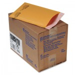 Sealed Air Jiffylite Self-Seal Mailer, Side Seam, #00, 5 x 10, Golden Brown, 25/Carton SEL10184