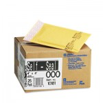 Sealed Air Jiffylite Self-Seal Mailer, Side Seam, #000, 4 x 8, Golden Brown, 25/Carton SEL10181