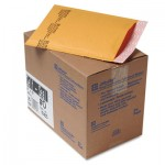 Sealed Air Jiffylite Self-Seal Mailer, Side Seam, #0, 6 x 10, Golden Brown, 25/Carton SEL10185