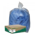 "Earthsense Commercial WBIRNW5815C Linear Low Density Clear Recycled Can Liners, 60 gal, 1.5 mil, 38"" x 58"", Clear, 100"