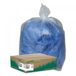 "Earthsense Commercial Linear Low Density Clear Recycled Can Liners, 45 gal, 1.5 mil, 40"" x 46"", Clear, 100/Carton"