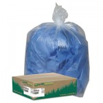 "Earthsense Commercial Linear Low Density Clear Recycled Can Liners, 33 gal, 1.25 mil, 33"" x 39"", Clear, 100/Carton"