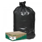 "Earthsense Commercial RNW1TL80V Linear Low Density Large Trash and Yard Bags, 33 gal, 0.9 mil, 32.5"" x 40"