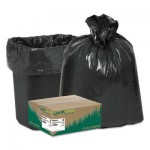 "Earthsense Commercial Linear Low Density Recycled Can Liners, 10 gal, 0.85 mil, 24"" x 23"", Black, 500/Carton WBIRNW2410"