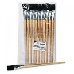 CLI Long Handle Easel Brush, Size 22, Natural Bristle, Flat, 12/Pack LEO73599