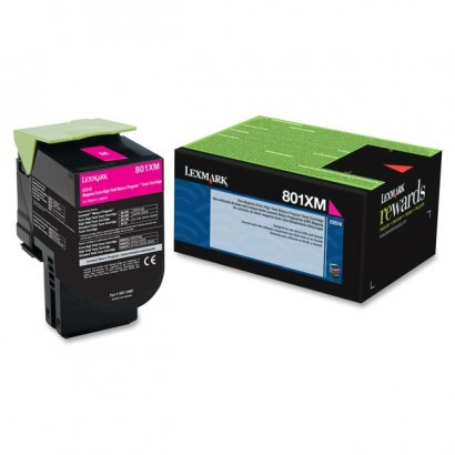Lexmark Magenta Extra High Yield Return Program Toner Cartridge 80C1XM0