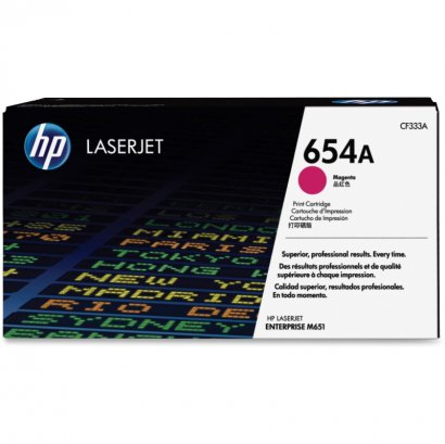HP 654A Magenta Original LaserJet Toner Cartridge CF333A