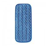 Rubbermaid Commercial FGQ82000BL00 Microfiber Wall/Stair Wet Mopping Pad, Blue, 13 3/4w x 5 1/2d x 1/2h