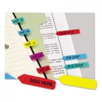 Redi-Tag Mini Arrow Page Flags, Blue/Mint/Purple/Red/Yellow, 154 Flags/Pack RTG72001