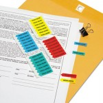 "Redi-Tag Mini Arrow Page Flags, ""Sign Here"", Blue/Mint/Red/Yellow, 126 Flags/Pack RTG72020"