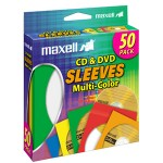 Maxell CD-401 Multi-Color CD & DVD Sleeve 190134