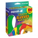 Maxell Multi-Color CD & DVD Sleeve 190132