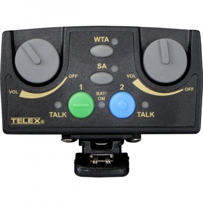 Telex Narrow Band UHF Two-Channel Binaural Wireless Synthesized Portable Beltpack TR-82N-F5