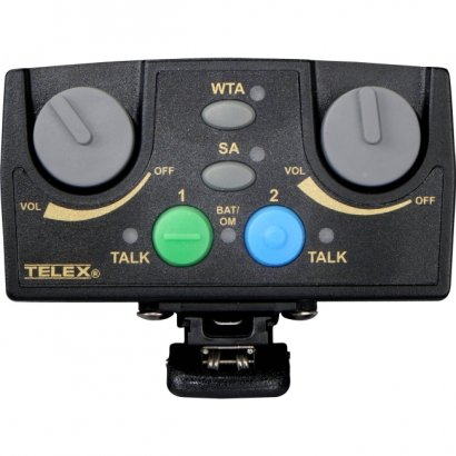 Telex Narrow Band UHF Two-Channel Binaural Wireless Synthesized Portable Beltpack TR-82N-C3R5