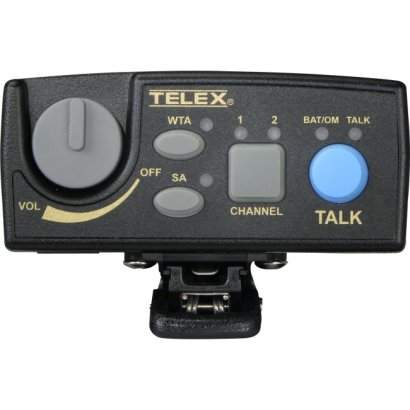 Telex Narrow Band UHF Two-Channel Wireless Synthesized Portable Beltpack TR-80N-B5R