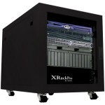 XrackPro Noise Reduction Enclosure Rack Cabinet XR-NRE2-US-BLK