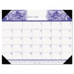 House of Doolittle 140HD One-Color Photo Monthly Desk Pad Calendar, 22 x 17, 2016 HOD140HD