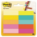 Post-it Page Flag Markers, Assorted Bright Colors, 50 Sheets/Pad, 10 Pads/Pack MMM67010AB