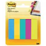 Post-It 6705AU Page Flag Markers, Assorted Colors,100 Flags/Pad, 5 Pads/Pack MMM6705AU