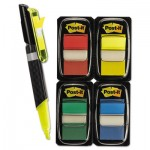 "Post-It Flags Page Flag Value Pack, Assorted Colors, 200 1"" Flags, 50 Highlighter/Pen Flags MMM680RYBGVA"