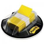 Post-it Flags 680-HVYW Page Flags in Desk Grip Dispenser, 1 x 1 3/4, Yellow, 200/Dispenser MMM680HVYW