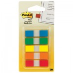 Post-It Flags 6835CF Page Flags in Portable Dispenser, 5 Standard Colors, 20 Flags/Color MMM6835CF