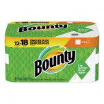 Bounty Perforated Towel Rolls, 2-Ply, White, 11 x 10 1/5, 60 Sheets/Roll, 12 Roll/Pack PGC74796