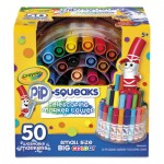 Crayola 588750 Pip-Squeaks Telescoping Marker Tower, Medium Bullet Tip, Assorted Colors, 50/Pack CYO588750