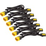 APC Power Cord Kit (6 ea), Locking, C13 to C14, 1.2m, North America AP8704S-NA