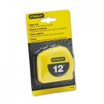 "Stanley Bostitch Power Return Tape Measure w/Belt Clip, 1/2"" x 12ft, Yellow BOS30485"