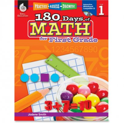 Shell Practice, Assess, Diagnose: 180 Days of Math for First Grade 50804