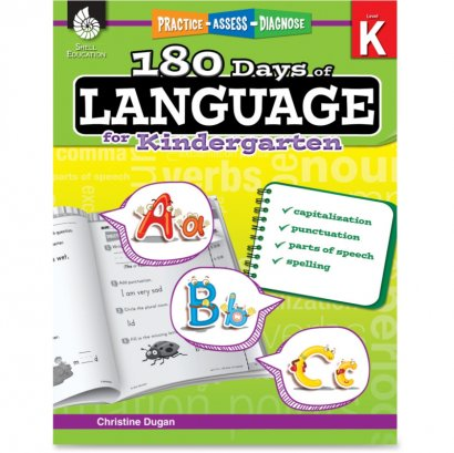 Shell Practice, Assess, Diagnose: 180 Days of Language for Kindergarten 51172
