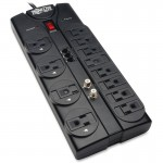 Tripp Lite Protect It! 12-Outlets Surge Suppressor TLP1208TELTV