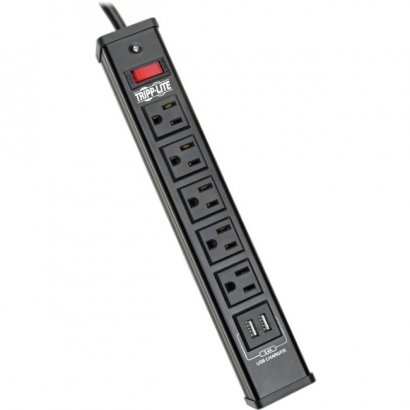 Tripp Lite Protect It! 5-Outlet Surge Suppressor/Protector TLM526USBB