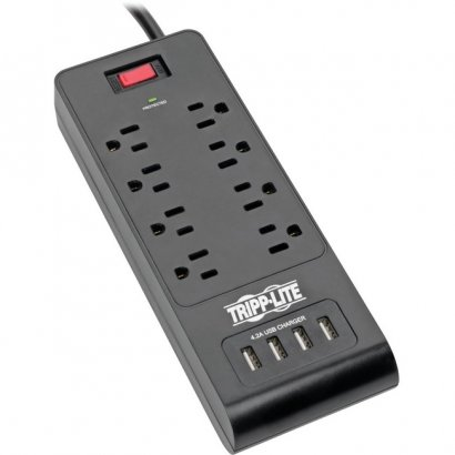 Tripp Lite Protect It! 8-Outlet Surge Suppressor/Protector TLP864USBB
