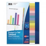 Avery Protect 'n Tab Top-Load Clear Sheet Protectors w/Eight Tabs, Letter AVE74161