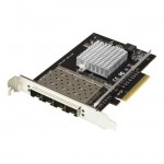 StarTech.com Quad-Port SFP+ Server Network Card - PCI Express - Intel XL710 Chip PEX10GSFP4I