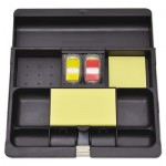 Post-it Recycled Plastic Desk Drawer Organizer Tray, Plastic, Black MMMC71