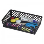 "Officemate Recycled Supply Basket, 10.0625"" x 6.125"" x 2.375"", Black OIC26202"