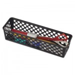 "Officemate Recycled Supply Basket, 10.125"" x 3.0625"" x 2.375"", Black OIC26200"